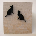 Black Cat Stud Earrings