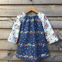 Size 3 Floral Blue Garden Dress