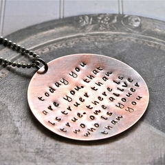 Dr Seuss Quote Necklace Antiqued Copper Sterling Silver