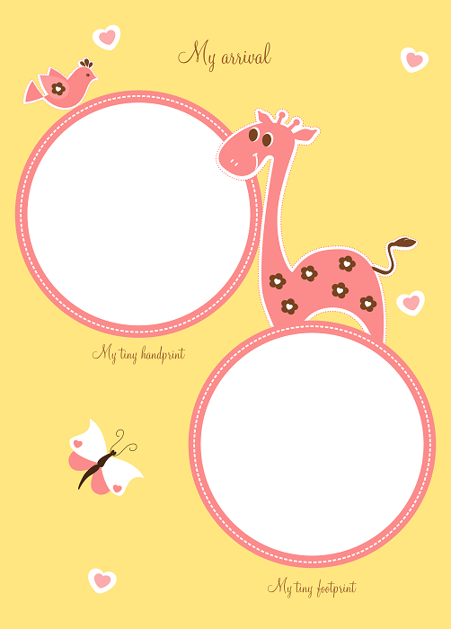 Baby Book Cover Page Ideas : New digital unique baby girl memory book the hearts of