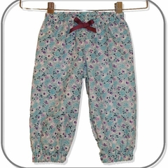 Blue Floral Play Pants (SIZES 00, 0, 1 & 3)