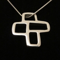 Windows - Handmade Sterling Silver Pendant with Snake Chain