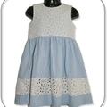 ON SALE... SIZE 2  Chambray Lace Dress