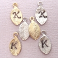 Add A Personalized Gold Or Silver Leaf Hand Stamped Initial To Any Design