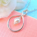 Sterling Silver Infinity Peapod Necklace