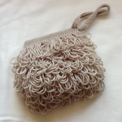 Dougal Wristlet - Taupe Crocheted Bag