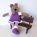 Molly - Hand Knitted Teddy Bear Toy