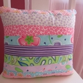 'Amelia' Floral Striped Cushion/Pillow