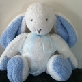 Roger the cuddly Rabbit hand knitted.