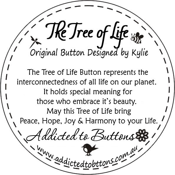 Pink black white tree of life original button necklace for What is the meaning of the tree of life jewelry