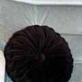 SPECIAL ORDER TARRYN - 40cm Vintage Style Black Velvet Round Cushion