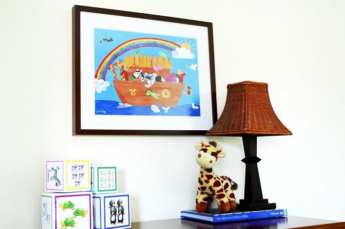 Noah 39 S Ark Art Prints For Kids Nursery Wall Art Kids Room Decor Sarah Tamblyn Designs