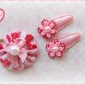 -Strawberry baby- hair clip set