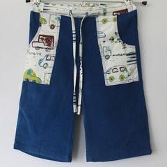 """Crayon Commute"" cord boys blue pants"