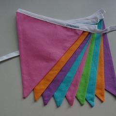 Custom Listing for Stephanie - Rainbow Bright Fabric Bunting - 10m