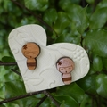 Kokeshi Oriental Doll. Laser Cut Wooden Earrings