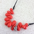 Red Drops Clay Beads Necklace