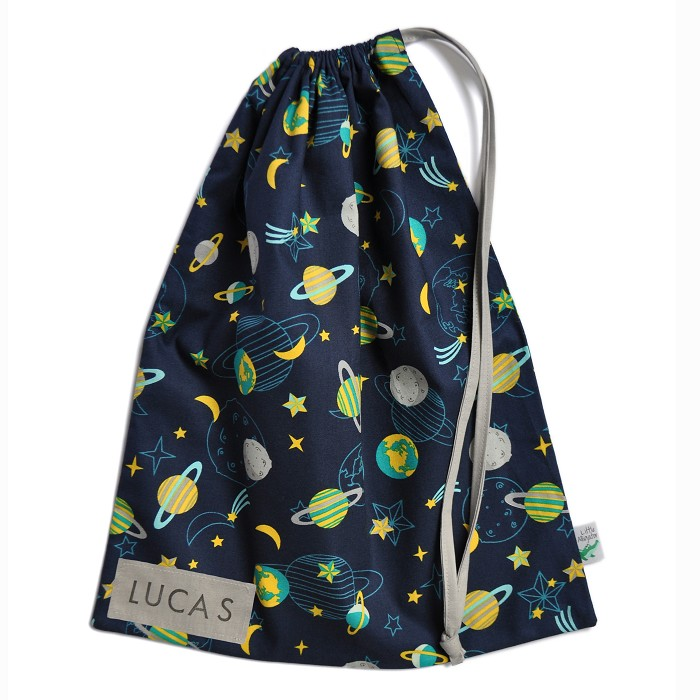 LAST ONE! Drawstring Bag. Space Planets & Stars. School or Kindy ...