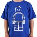 Blue Lego mini figure boys t-shirt