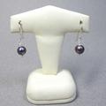 Black & white pearls sterling silver earrings