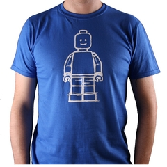 Lego inspired blue short-sleeved t-shirt - adults