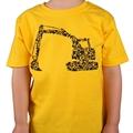 Digger/Construction yellow boys T-shirt