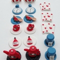 Alice In Wonderland Themed Cupcake Toppers