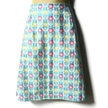 Ladies sizes avail - Retro Blue Daisy A Line Skirt