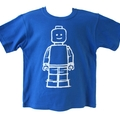 Blue Lego mini figure boys t-shirt