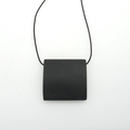 Simplicity- Matte onyx pillow bead on short silk necklace