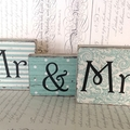 Mr & Mrs Word Block Set