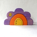 Wooden Flower House Puzzle
