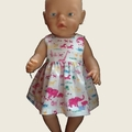 Animal print dress - Baby Born or Cabbage Patch dolls