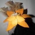 Buttercup Flower Power SALE yellow felt fascinator headpiece WATTMILLINERY