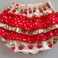 Strawberry ruffle bloomers sz 1