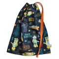 Large & Durable Drawstring Bag. Rockets & Space. Library Bag. School or Kindy.