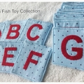 Fabric Letter Cards (A-Z) -Blue