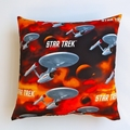 Star Trek Cushion Cover in Papaya, Pewter, Scarlet, Cocoa, Coffee, Steel Blue