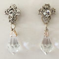 Striking Vintage inspired crystal earrings