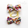 Little Bows, hair ties, pony tile holders, Multicolour Dots