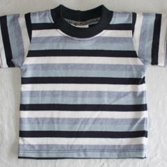 CLEARANCE... Navy Stripe Boys T-Shirt - FREE POST