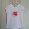 Tshirt | Heart | Roses | Applique | Size 4 | Shabby Chic inspired