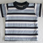 CLEARANCE... Navy Stripe Baby T-Shirt