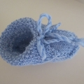 Baby bootees in Blue