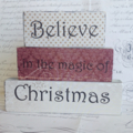Believe in the Magic of Christmas Word Block Set