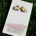 Buy 3 get 4th FREE Tas Oak Bunny Rabbit Earrings