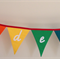 Lower case alphabet rainbow bunting flags