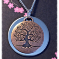 Copper and silver tree of life Necklace.