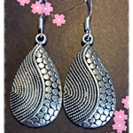 Tear drop swirl Earrings