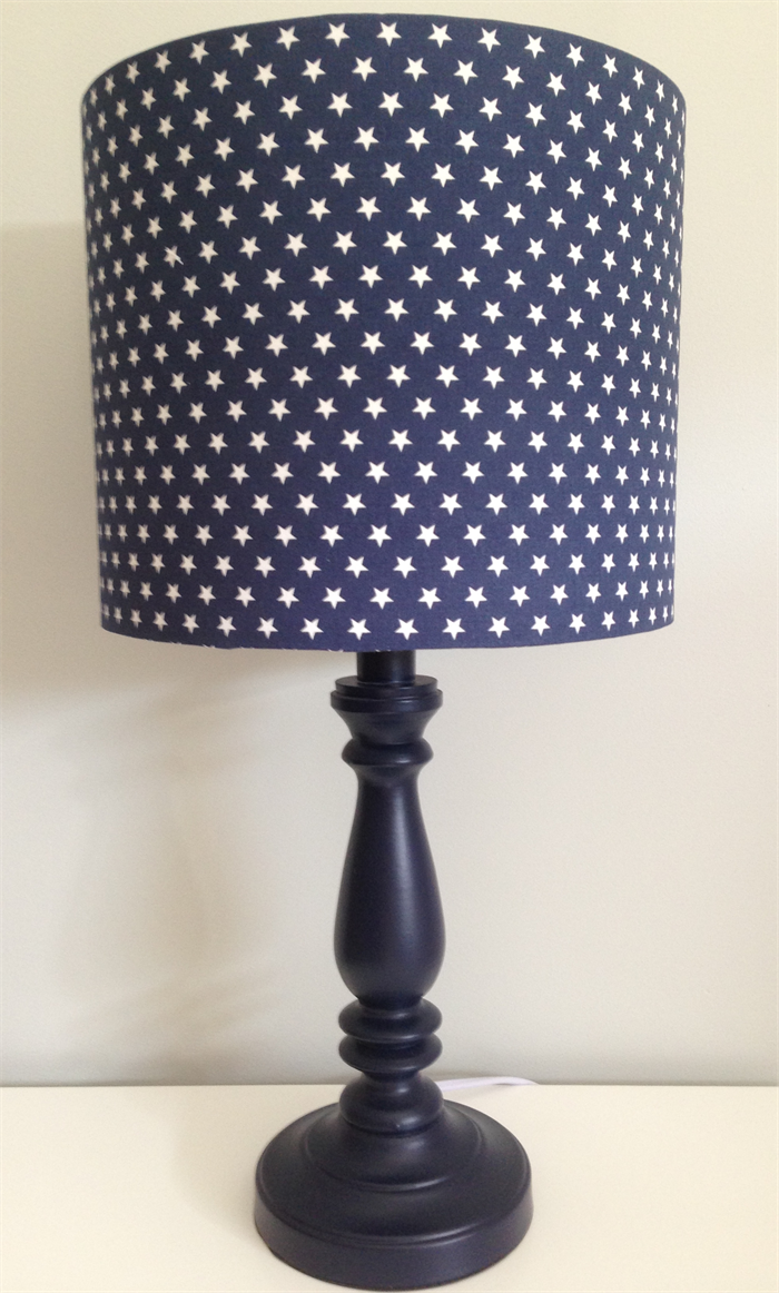 navy stars lamp shade limited stock lampshadehouse. Black Bedroom Furniture Sets. Home Design Ideas